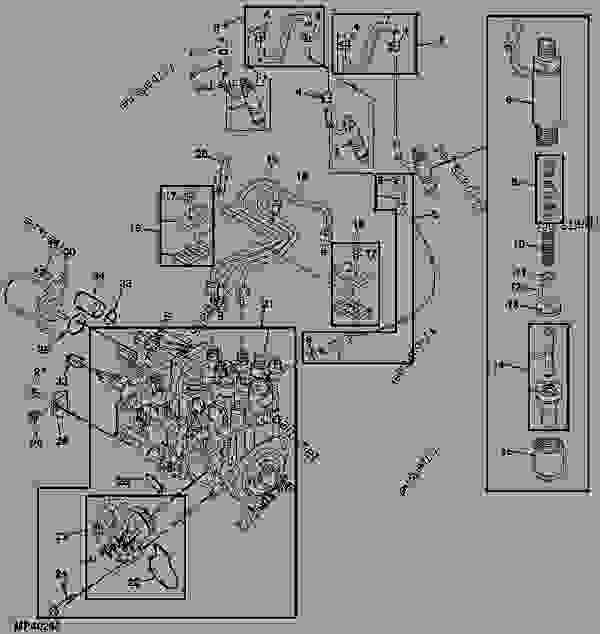 FUEL INJECTION PUMP, NOZZLES AND LINES (ENGINE MARKED