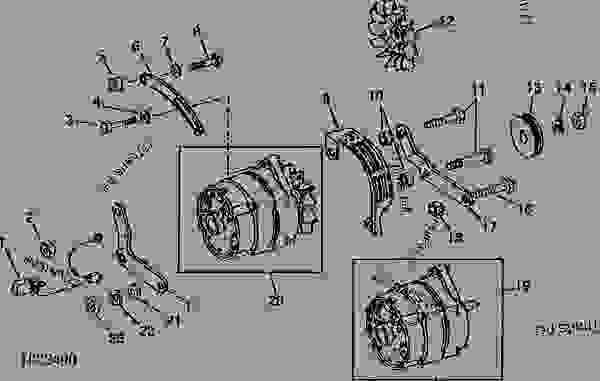 ALTERNATOR AND ATTACHING PARTS (DELCO-REMY) CODE 3105 AND