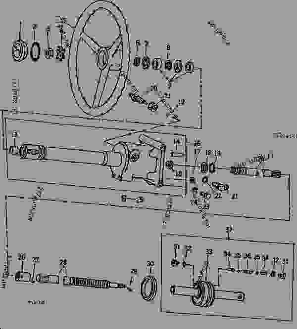 STEERING VALVE CYLINDER, SHAFT, AND PISTON [02E23