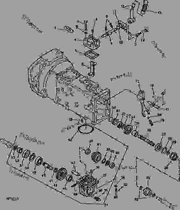 GEAR CASE WITH GEARS AND OPERATING LEVER (CONTINUED) (MFWD