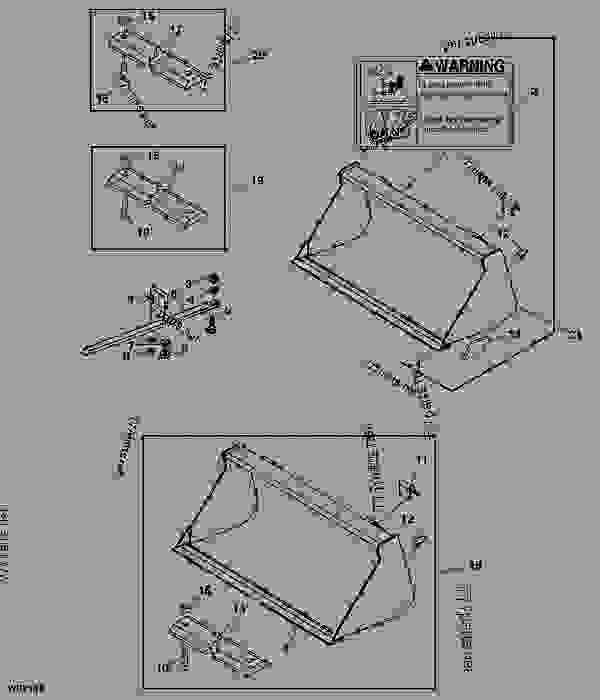 John deere 541 loader parts diagram