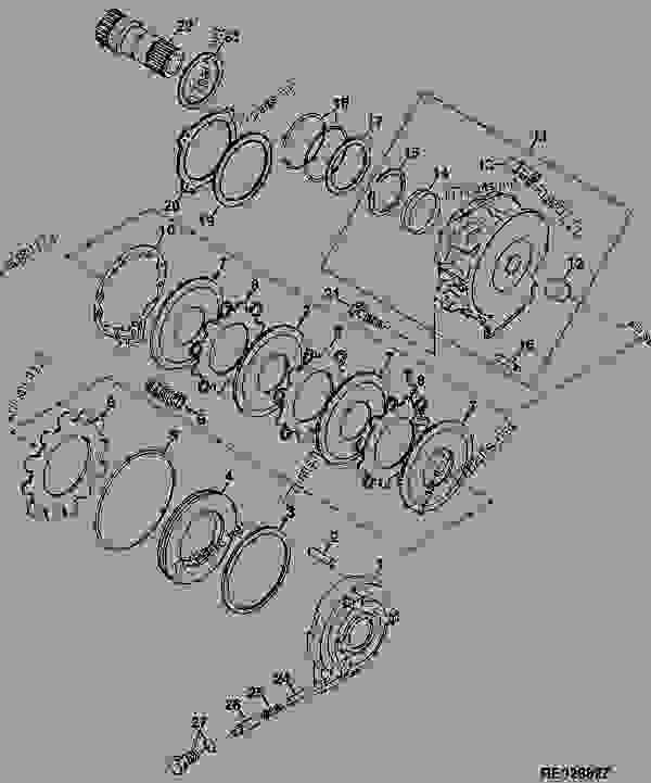 B4, B5 Brake Piston Housing (Power Shift Transmission