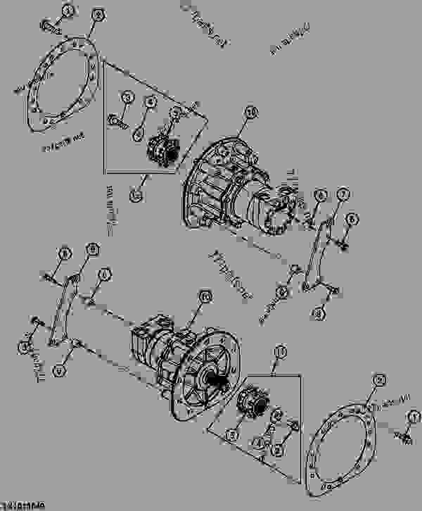 HYDROSTATIC MOTOR AND BRAKE (240 SN 341300- )(250 SN