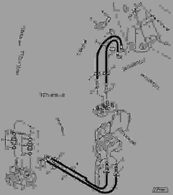 HOSES (MID-MOUNT VALVE AND MULTI-COUPLER TO LOADER)(THREE