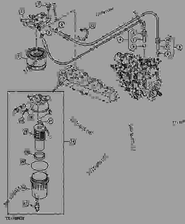 Water Pump John Deere Parts Diagrams, Water, Free Engine