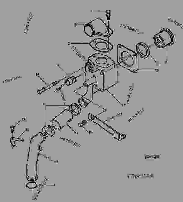 B Housing John Deere Spare Part Parts. B. Tractor Engine