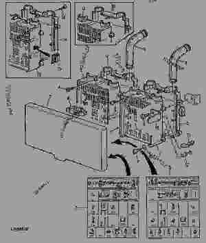 FUSE BOX  SYMBOLS (CAB)  TRACTOR John Deere 6100