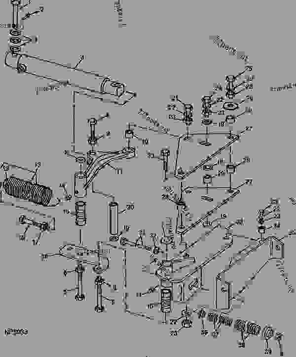 HYDRAULIC FOLDING BOOM CYLINDER AND PIVOT (60-FOOT (18.30