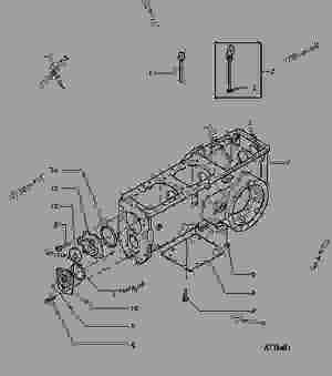 TRANSMISSION CASE  TRACTOR John Deere 5500N  TRACTOR
