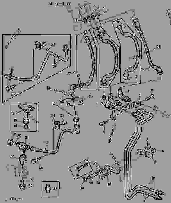 HYDROSTATIC STEERING-OIL LINES (WITH OPU CAB) [11