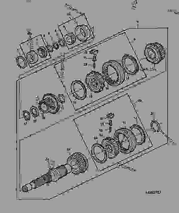 TRANSMISSION DRIVE SHAFT AND SYNCHRONIZING PARTS [46