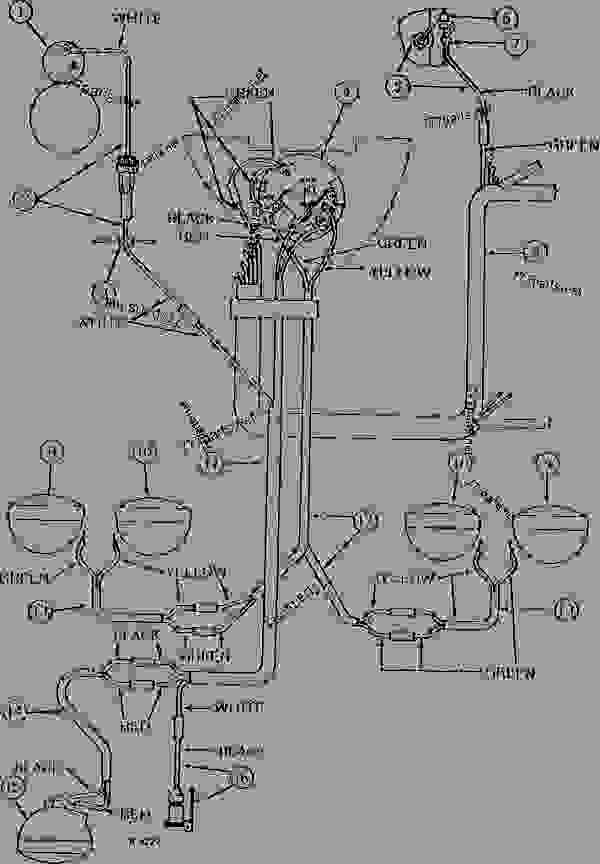 FOUR HEAD LAMP WIRING (GASOLINE AND LP-GAS) (ROW-CROP