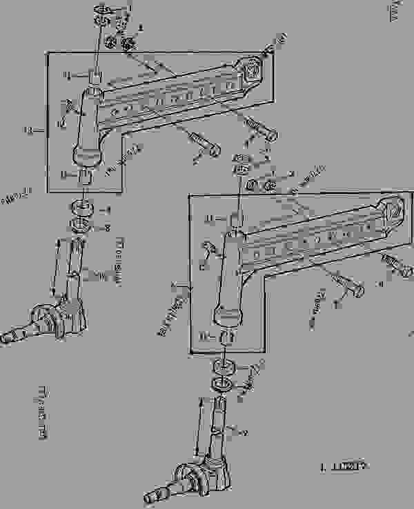 FRONT AXLE KNEE/SPINDLE KNUCKLE (WITH HYDROSTATIC STEERING
