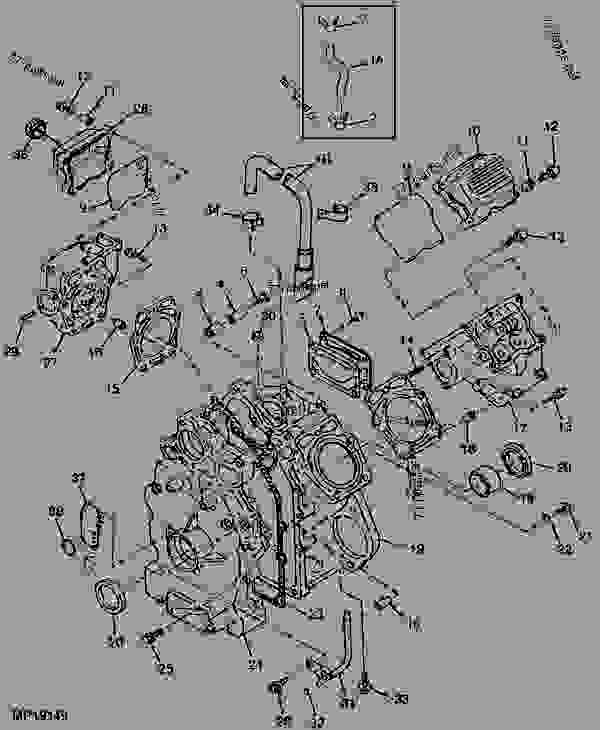 John Deere Gator 6x4 Wiring Diagram Schematic Cylinder Head And Crankcase 6x4 Utility Vehicle John