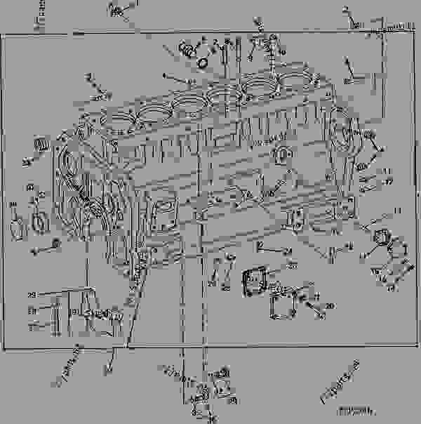 CYLINDER BLOCK (6466DH) (ENGINE SERIAL NO. 197683