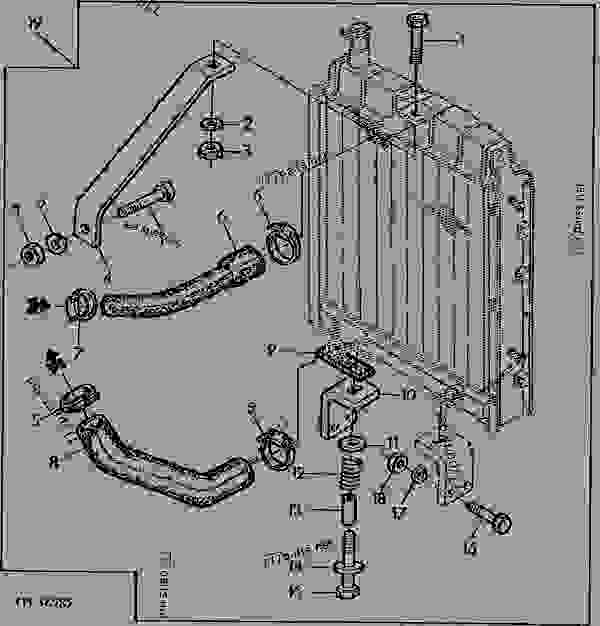 RADIATOR/BRACKET/HOSE, CODE 2701,9701 FOR POWER UNIT