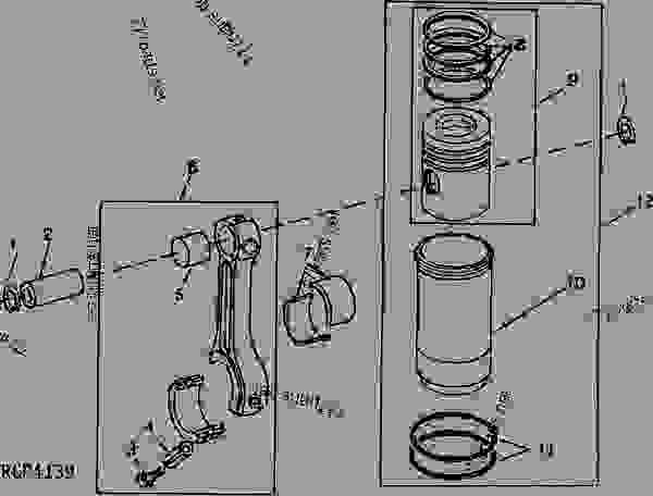 PISTONS, RINGS, AND CONNECTING RODS (DIESEL) [01B19