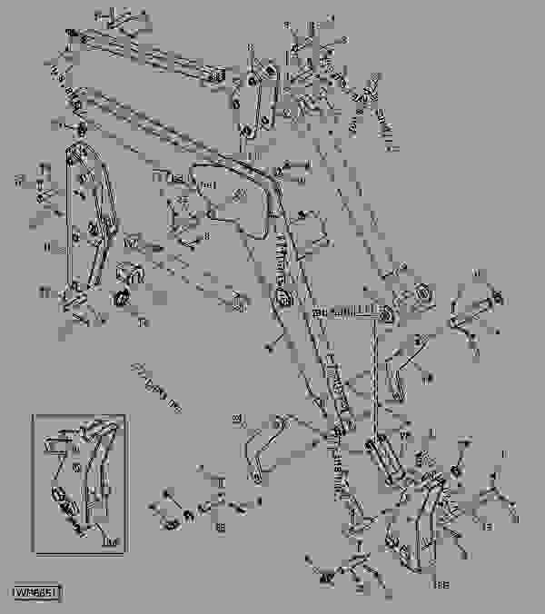 BOOM, MAST AND BUCKET HOLDER (MECHANICAL SELF-LEVEL) [A23