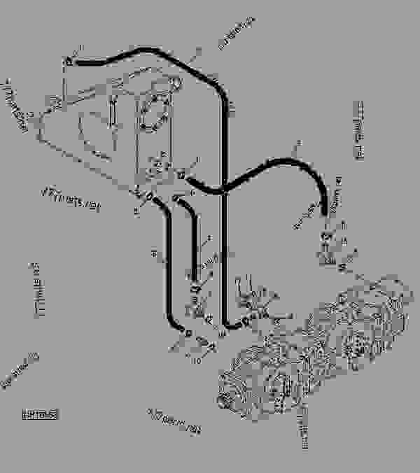 HYDRAULIC PUMP/RESERVOIR SUCTION AND RETURN HOSES