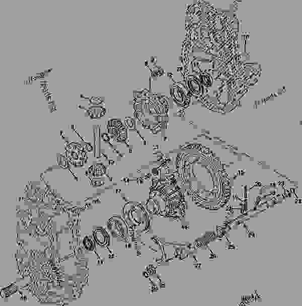 DIFFERENTIAL GEAR, AXLE SHAFT AND LOCK ASSEMBLY ENGRENAGE