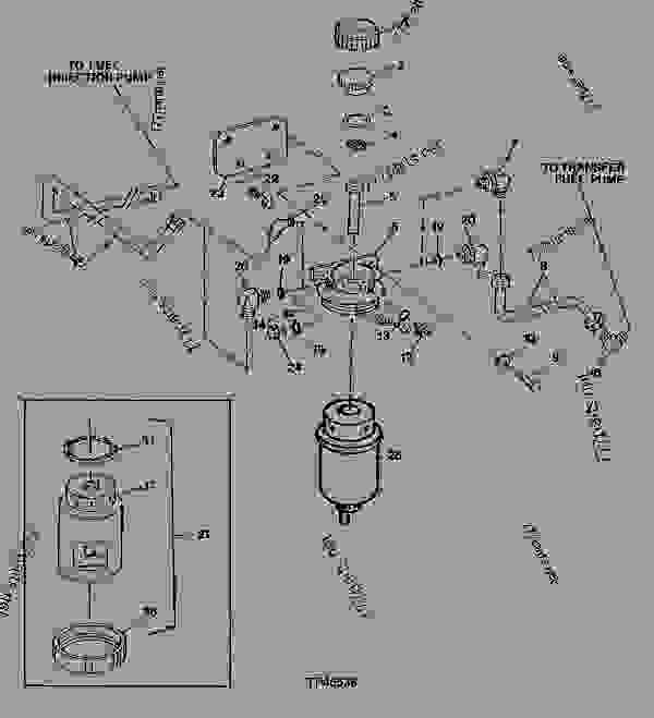 SINGLE FUEL FILTER AND FUEL LINES (CODE 3501) (4039TF002