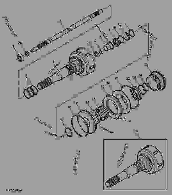 CLUTCH SHAFT, 24/12 SPEED TRANSMISSION (WITH PTO CLUTCH