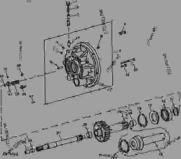 TRANSMISSION AND PTO CLUTCH OPERATING PISTON HOUSING