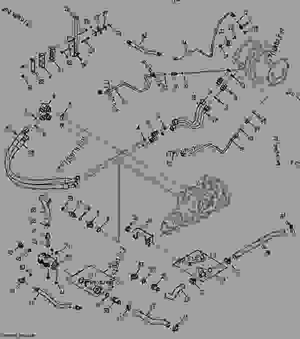 Left Hydrostatic Drive Hydraulics (Manual Controls) (Two