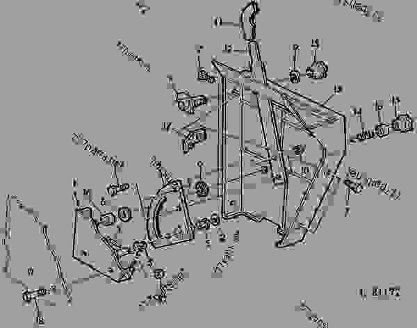 ROCKSHAFT CONTROL LEVER WITH OPERATOR'S CAB [03C23