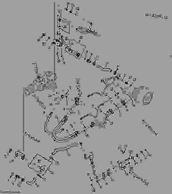 Left Hydrostatic Drive Hydraulics (Manual Controls
