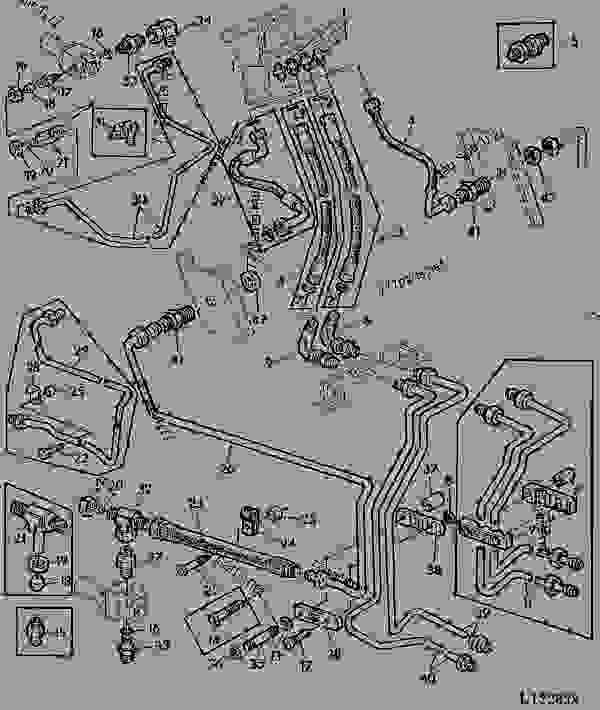 HYDROST.STEERING-OIL LINES (WITH 1 STEER. CYLINDER) [15