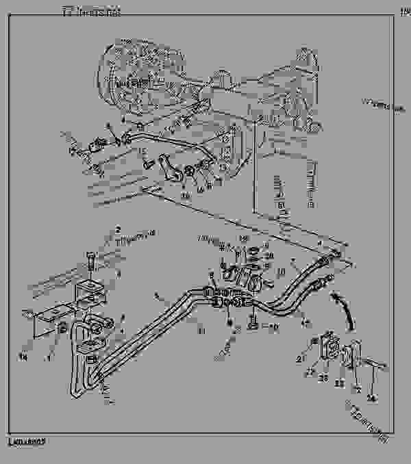 HYDROSTATIC STEERING, OIL LINES WITH MFWD AXLE AS2035