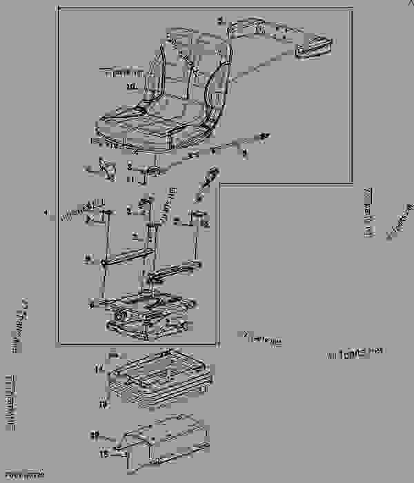 Operator's Seat Cushion, Armrest, And Mountings (Cab
