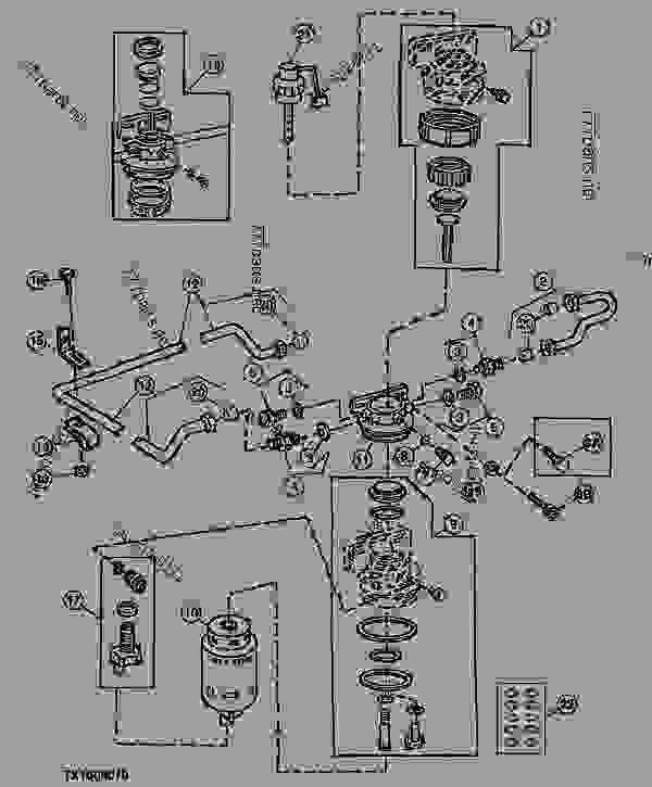 Fuel Filter and Fuel Lines (PE4045DT050) (071973