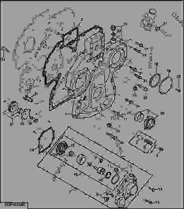 TIMING GEAR COVER, WATER PUMP (ALUMINIUM, W/O INSERT
