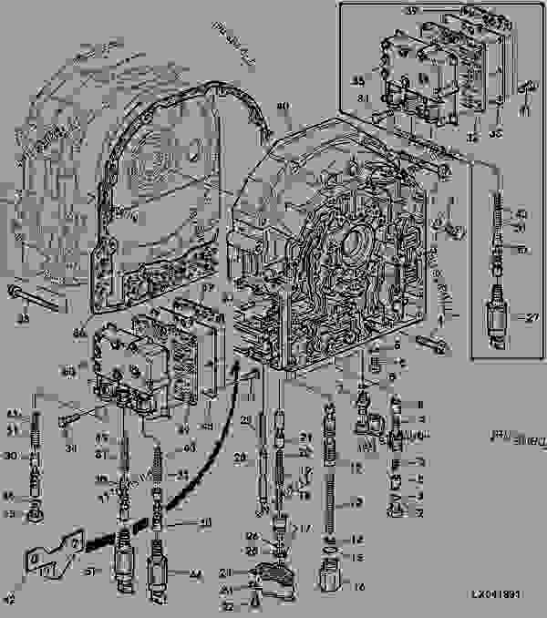TRANSMISSION FRONT COVER (WITH ELECTR. REVERSER CONTROL