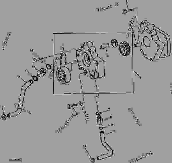 TRANSMISSION OIL PUMP AND OIL LINES (LESS HI-LO SHIFT
