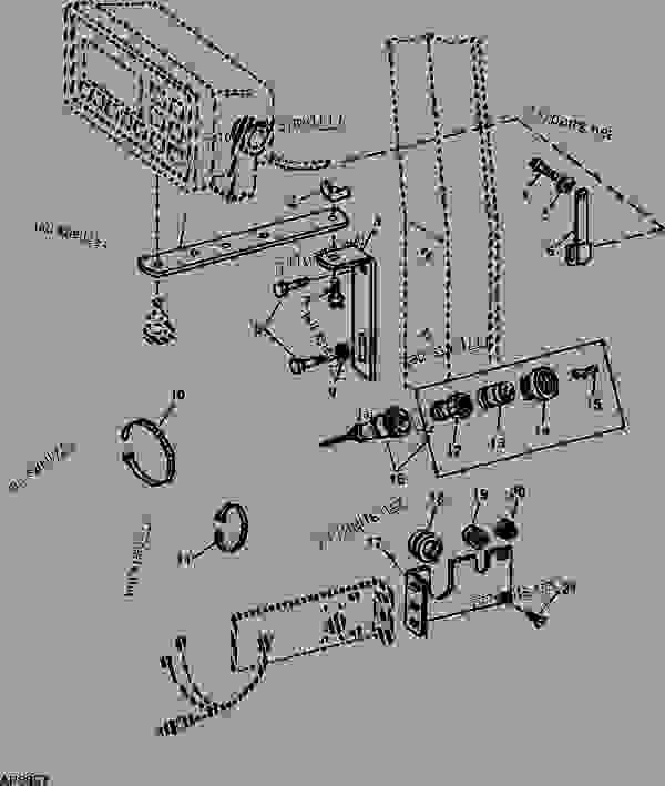 john deere 4440 wiring diagram ac condenser fan motor radio great installation of harness 7000 planter 4 row open station