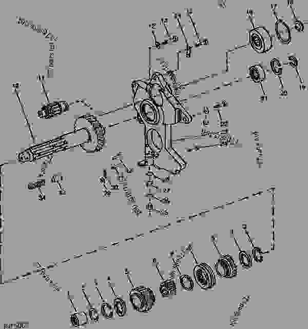 COUNTERSHAFT AND BEARING SUPPORT (INDEPENDENT PTO) [02D14