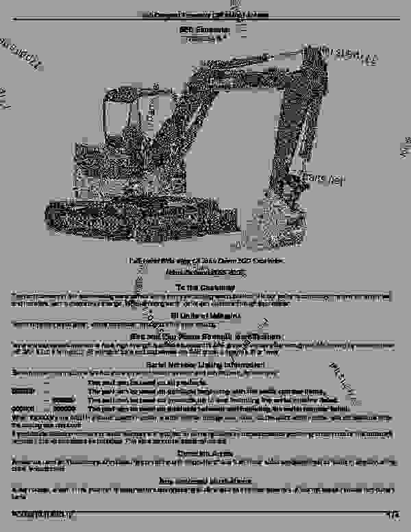 50D Compact Excavator (S.N. 244001-274999): Introduction