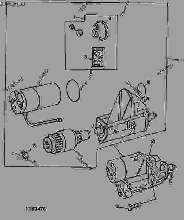 CODE 3002 STARTER MOTOR 12-VOLT DENSO(6059) (6068) [02E01