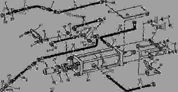 MASTER HYDRAULIC CYLINDER SYSTEM (018500- )(6R WIDE, 8R