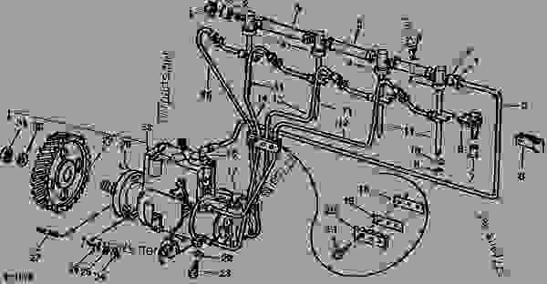 FUEL INJECTION SYSTEM (ROOSA-MASTER NO. JDB435MB3794