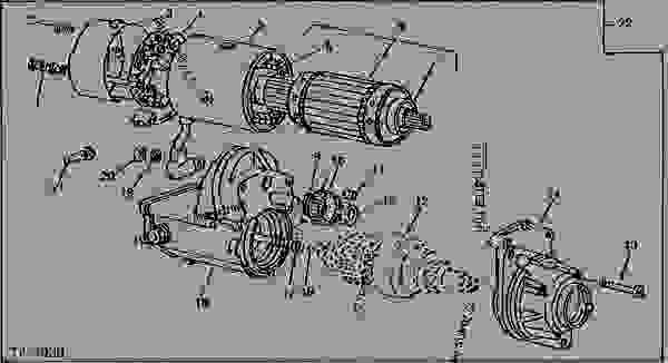 STARTING MOTOR CODE 3001 (JOHN DEERE)(R.H.)(12V-3.3HP