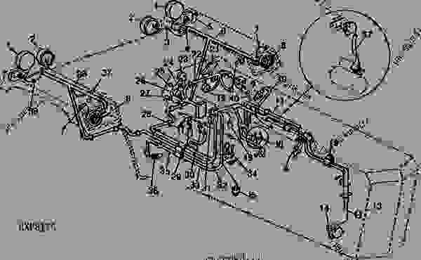 john deere 4430 cab wiring diagram 68 camaro steering column ar60515 tachometer - spare part | 777parts