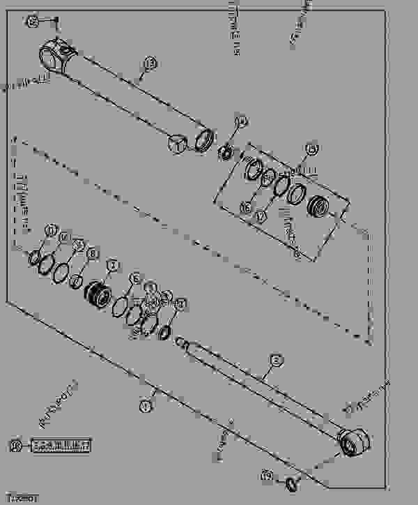 HYDRAULIC CYLINDER (BUCKET) (260 SERIAL NO. 925240