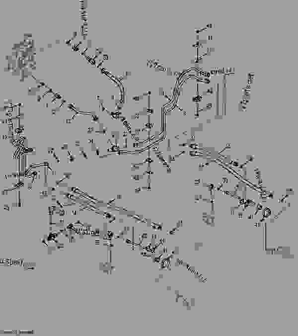 Boom Cylinder Hydraulic Lines (Self-Leveling) (194402