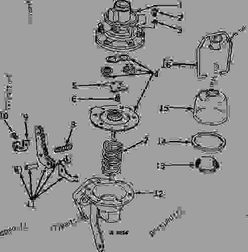 FUEL PUMP PARTS (ENGINE SERIAL NO. 065000-111197) [01F04