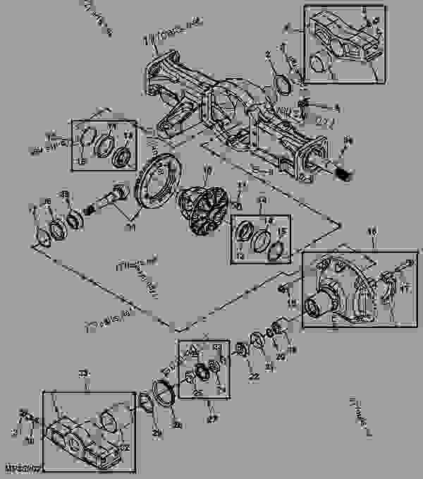 John Deere 4100 Front Axle Diagram John Deere 4600 Front