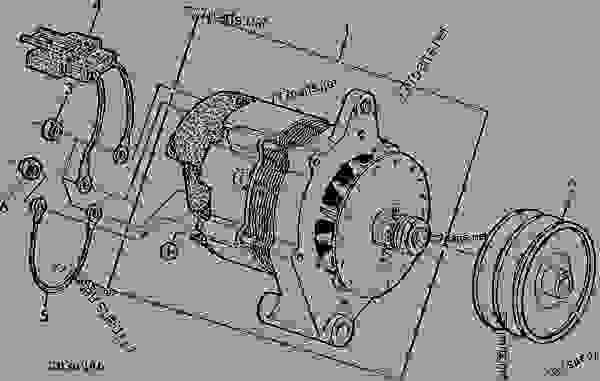 ALTERNATOR CODE 3117 (MOTOROLA 8EM3002GB)(24V-45A)(W/O